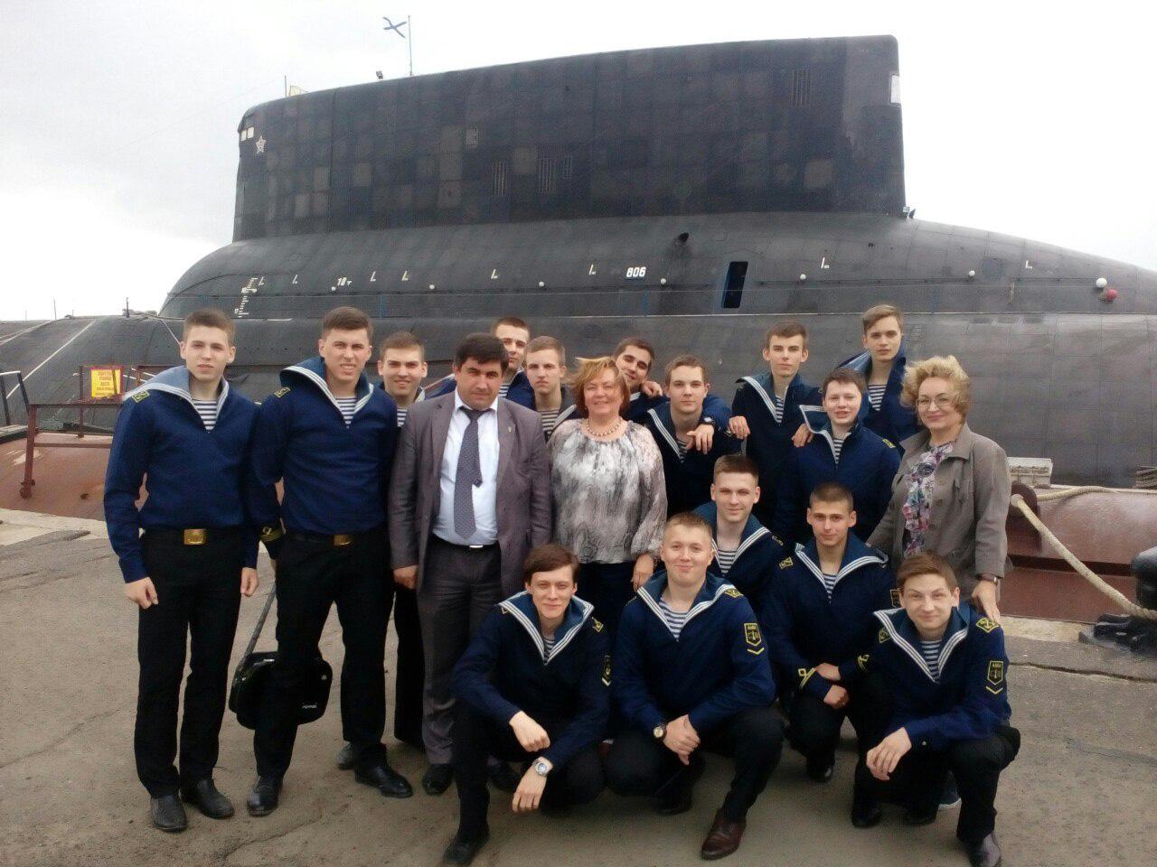 курсанты на подводной лодке